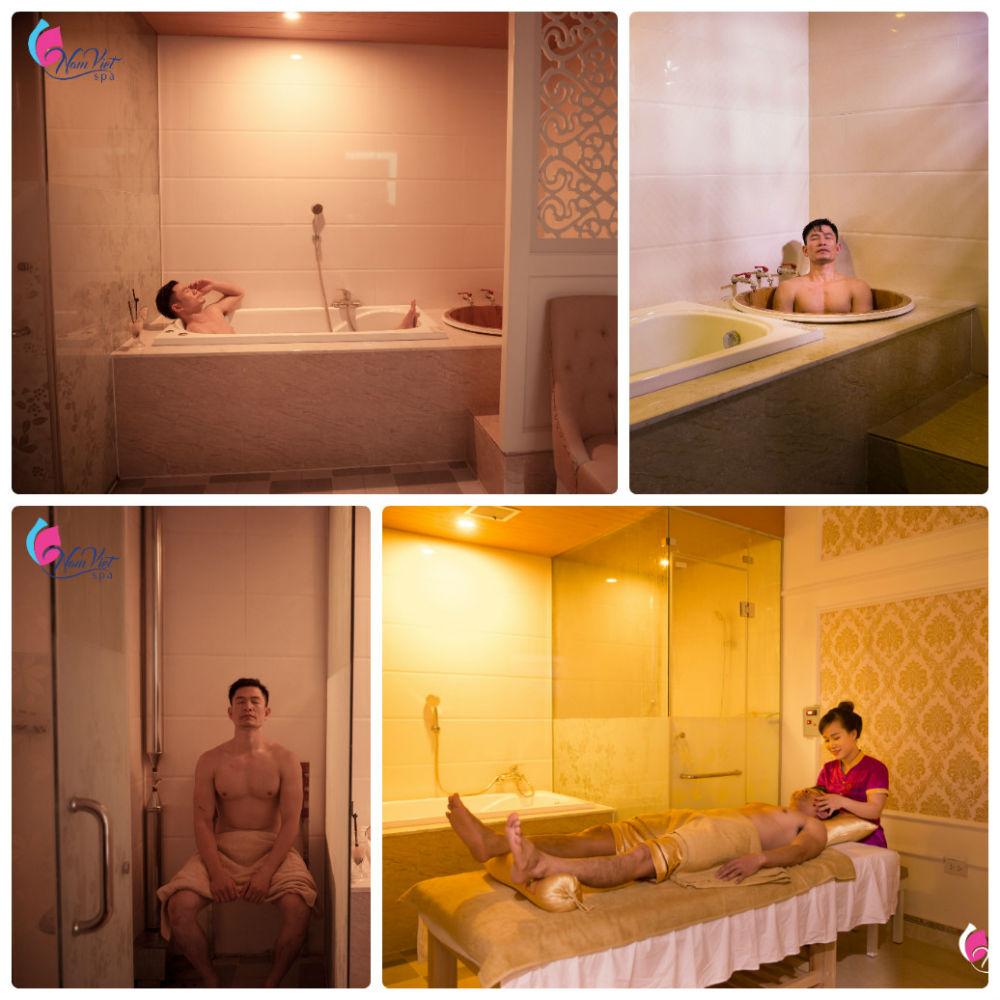 Massage toàn thân bao gồm xông sục (P.VIP đơn)